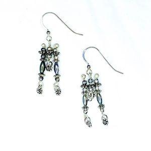 Sterling Silver Three Drop Earrings